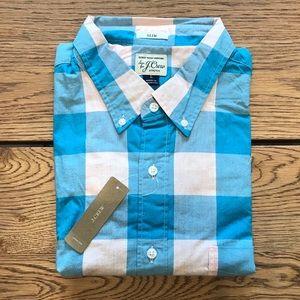 J. Crew Men's Slim Fit Stretch Poplin Shirt - NWT